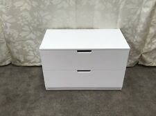 Ikea NORDLI white chest of 2 drawers, 80x52cm