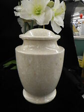 Vase style Cultured Marble Cremation Urn Overnight Shipping Available 18 stone