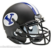 NEW BYU BRIGHAM YOUNG COUGARS BLACK SCHUTT AUTHENTIC MINI FOOTBALL HELMET