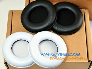 80mm White Black Color Leather Ear Pads Replacement Cushions For Headphones