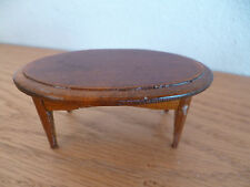 "Doll House Oval Wooden Table   1 7/8"" x 3 3/4""   H  1 3/4"""