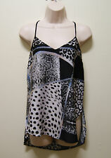 BARDOT TOP MULTI-COLOURED SKATER CAMI TOP, Sz 10 WORN ONCE (#1253)