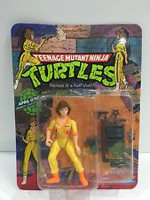 1989 Teenage Mutant Ninja Turtles April O'Neil Action Figure MINT ON CARD