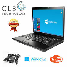 Dell Laptop Computer Latitude Core 2 Duo 15' LCD 4GB DVD Windows 10 Pro + 250 HD