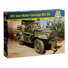 Italeri M6 Dodge Anti Tank Gun inc one figure WC55 6555 1:35 Military Model Kit