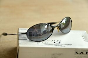 Vintage OAKLEY E-Wire Black Iridium Sonnenbrille Sunglasses