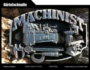Gürtelschnalle Mechaniker-MACHINIST Handwerker mit Schwarzem Email 407 /47