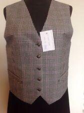 Button Wool Casual Plus Size Waistcoats for Women
