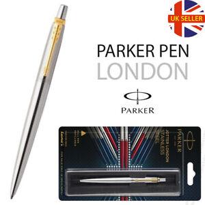 GENUINE PARKER - JOTTER LONDON STAINLESS STEEL - BALL POINT PEN - GIFT BOX