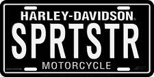 Harley Davidson SPRTSTR Sportster Embossed Metal Vanity License Plate Car Tag