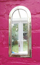 Hand Crafted*  MOROCCAN BEATEN METAL SILVER COLOUR  ARCHED SHAPED MIRROR*