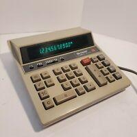 Sharp Compet QS-2122A 12 Digit Vintage Desktop Calculator Cleaned Functions 100%