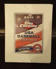 2011 Topps Chrome USA Baseball Refractor Redemption Set