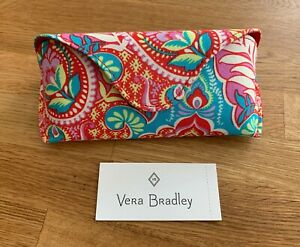 Vera Bradley's HARD SUNGLASS EYEGLASS CASE in PAISLEY IN PARADISE Pattern NEW