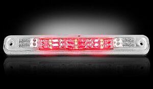 RECON CLEAR LED THIRD 3RD BRAKE LIGHT LENS FOR 94-98 GMC C1500 C2500 C3500 B