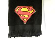Superman fingertip towel FREE SHIPPING gift black comics vintage applique