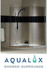 aqualux storm walk in curved shower enclosure + tray with deck 1500mm X 1500mm