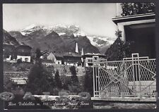 VERCELLI RIVA VALDOBBIA 67 VALSESIA - MONTE ROSA Cartolina FOTOGRAF. viagg. 1954
