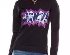 NWT Juicy Couture Sweatshirt Women Sequined Embellished Graphic  size XL