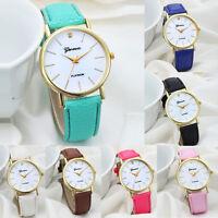 Casual Women Watch Fashion Design Dial Leather Analog Quartz Wrist Watch