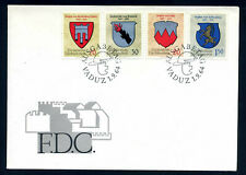 Liechtenstein 1964 Coats of Arms / Wappen, FDC, Mi. 440 - 443.