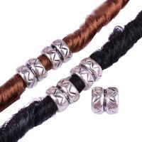 10pcs in acciaio inox anelli Dreadlock perline 8mm foro Dread capelli perl CRIT