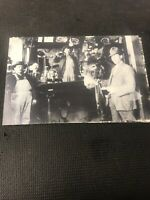 postcard Vintage Saloon Bar Great Gathering Pioneer Card Repro  I01