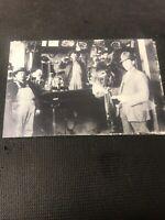 postcard Vintage Saloon Bar Great Gathering Pioneer Card Repro  I01