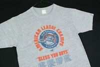 Vintage 80s Detroit Tigers T Shirt SOFT THIN Mens RAYON Tri Blend Single Stitch