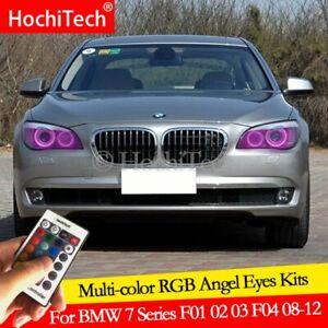 For BMW F01 F02 F03 F04 740i 750i 750Li 760Li 08-12 Angel Eye LED RGB Multicolor