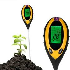 4 in 1 Soil Meter PH Tester Moisture Sunlight Light Temperature Test Garden Lawn