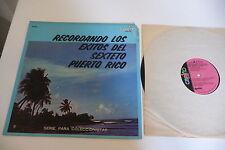 RECORDANDO LOS EXITOS DEL SEXTETO PUERTO RICO RARE LP CARINO US PRESS.