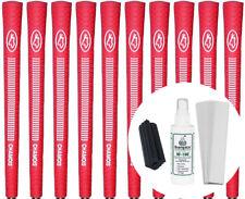 Avon Chamois Red Jumbo Golf Grips - Set of 10 w/ Grip Kit - New