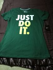 Nike Women's Just Do It Green Athletic Tshirt Size Large New With Tags