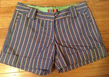 Petro Zillia,trouser style pinstriped short,cuffed hem, pockets. size 4
