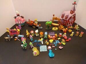 My Little Pony MLP Mini Huge Lot Sweet Apple Acres welcome wagon ice cream shop