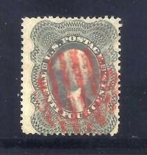 US Stamps - #37 - USED - 24 cent Washington Issue - CV $440 - red grid cancel