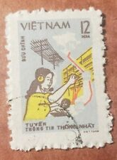 GM6 NORTH VIET NAM  1980 - TELECOMMUNICATION USED STAMP