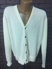 VTG Mens JC PENNEY THE FOX Sweater Cardigan Yellow Hipster XL Union USA A1-12