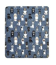 Dog Bulldog Husky German Australian Shepherd Bull Terrier Throw Blanket Papillon