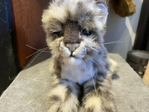 HANSA Creation Snow Leopard Cub Laying 4087 Plush Toy Hand Crafted