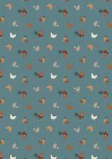 klein Dinge Bauernhof Hühner Hennen Blaugrün Baumwolle Steppen nähen Stoff