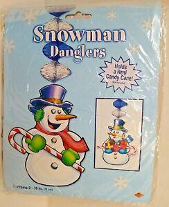 Beistle Snowman Danglers Christmas 30 inch Spinner Indoor  New