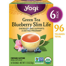 Yogi Tea - Green Tea Blueberry Slim Life - 6 Pack, 96 Tea Bags Total
