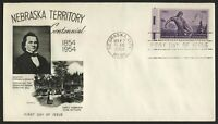 #1060 3c Nebraska Territory, Fleetwood-Addressed FDC **ANY 4=FREE SHIPPING**
