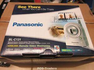 PANASONIC BL-C131 Pan-tilt sans fil réseau Security CCTV Camera INDOOR NEW NEU