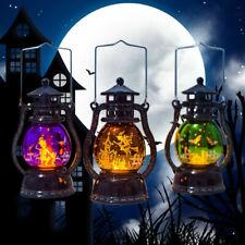 Halloween Lamp Flame Led Lantern Hanging Decor Pumpkin Castle Witch Light Party