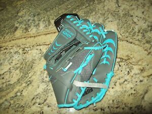 "Franklin Youth Baseball Glove 10-1/2"" Gray Blue Shok-Sorb RHT Ball Mitt"