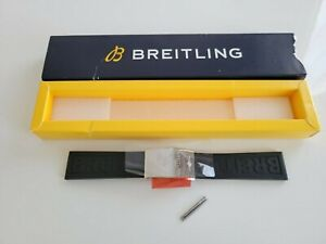 Breitling 153s Rubber Strap 22 20mm Polished Deployment Clasp A20D.2 22mm