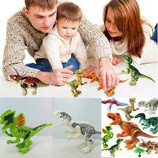 8Pcs Dinosaur Minifigures Dinosaur Building Blocks Kids Baby Education Toy Model